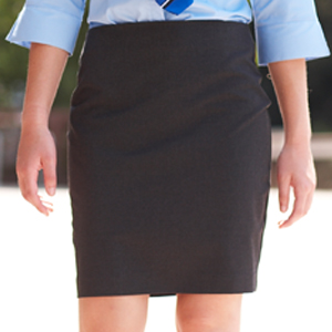 Pleated Pencil Skirt with Ruched Waistband - girl. Inspired.