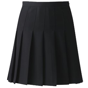 black designer pleated school skirt