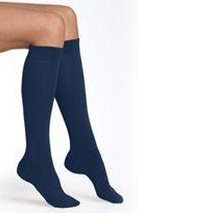 Girls 3 Pack Navy Knee High Socks