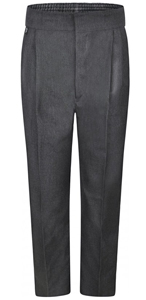 Boys Grey Junior School Trousers