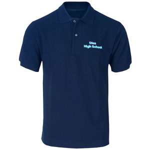 Diss High School Navy Polo Shirt