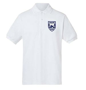 Engaines Primary White Polo Shirt