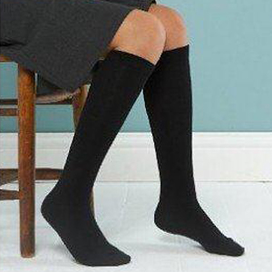 Girls 3 Pack Black Knee High Socks