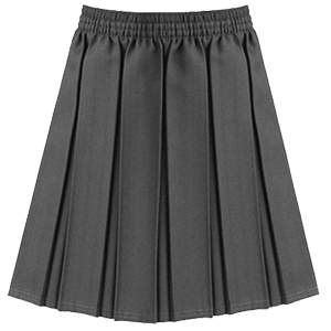 Girls Junior Grey Pleated Skirt