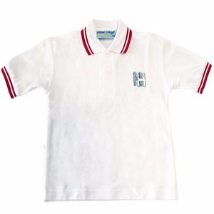 Holland Haven Primary School White/Red PE Polo Shirt