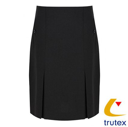 Senior Two Pocket Pleat Graphite Skirt GENEROUS FIT SEE SIZE CHARTS