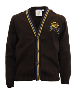 St Clare's Brown Cardigan