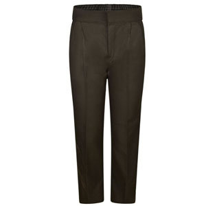 St Clare's Brown Half Elastic Waist Trouser